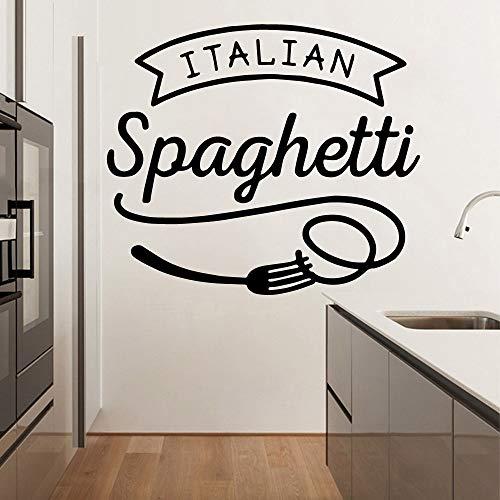 Tianpengyuanshuai Familie Spaghetti Vinyl Tapete wasserdichte Wandtattoo Dekoration 33X38cm