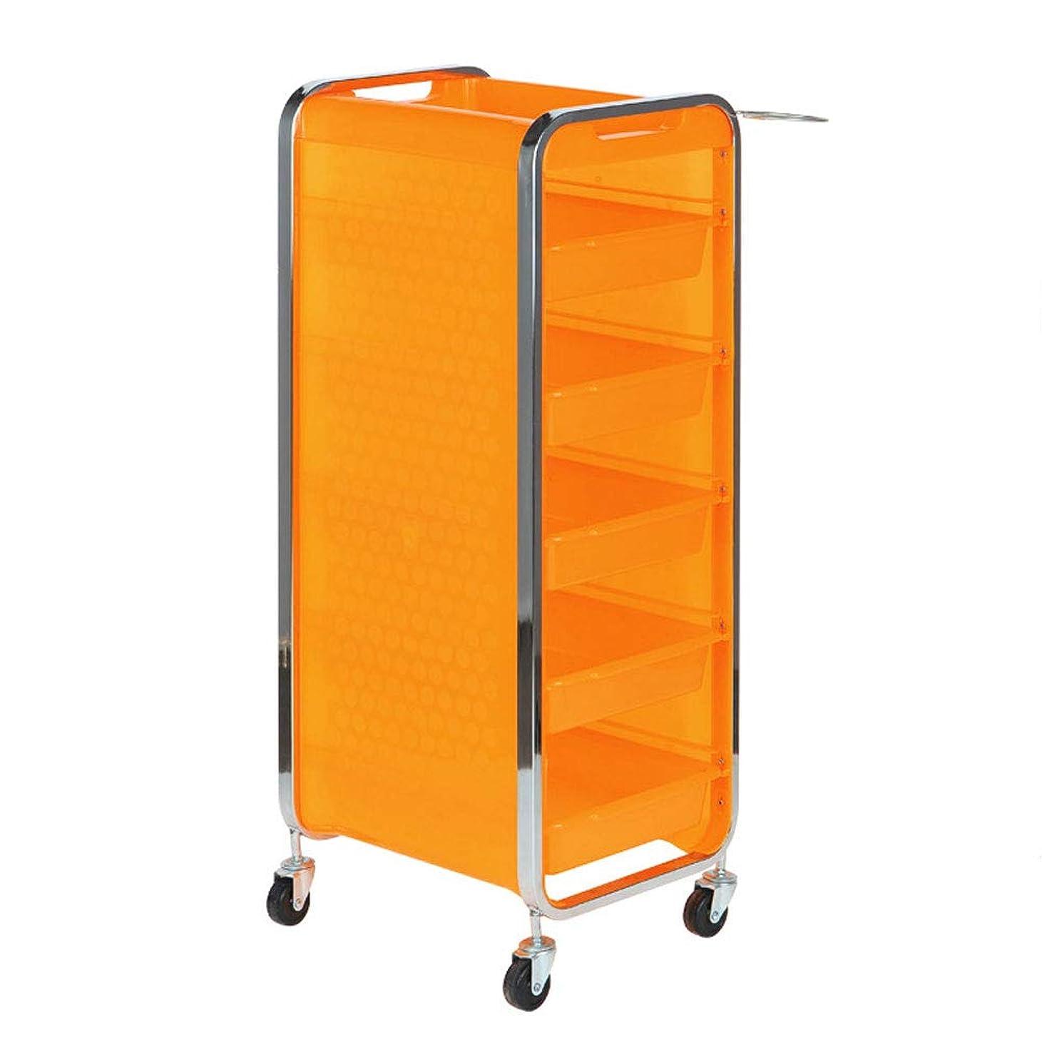 熟練したきゅうり前投薬サロン美容院トロリー美容美容収納カート6層トレイ多機能引き出し虹色,Orange,A