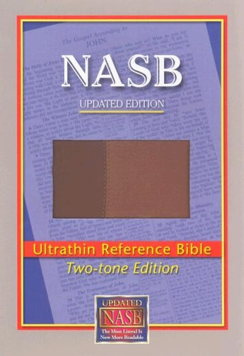 NASB Ultrathin Reference Bible (Brown/Light Brown, Leathertex Two-Tones)