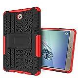 XITODA Samsung Tab S2 8'' Protección,Funda para Galaxy Tab S2 8.0, Armour Hybrid Dual Layer Armor Duro Cases con Stand Funda para Samsung Galaxy Tab S2 8.0 SM-T710 T715 T713 T719 Tablet - Rojo