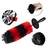 Wheel Brush for Car Wheel Detailing Rim Cleaning Washing-18''Long Upgraded Version-Soft Bristle No Injuries Detail Brush for Rims,Vehicles,Engines,Exhaust Pipes,Motorcycle ect.…