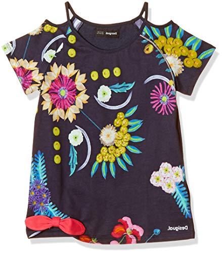 Desigual Mädchen TS_Tennessee T-Shirt, Blau (Navy 5000), 140 (Herstellergröße: 9/10)