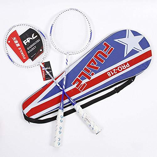 YYDM 1 Paar Professionelle Dauerhafte Badmintonschläger, Leichte Outdoor Sport Badmintonschläger (Mit Tragetasche), Für Familie Fitness Outdoor Garten