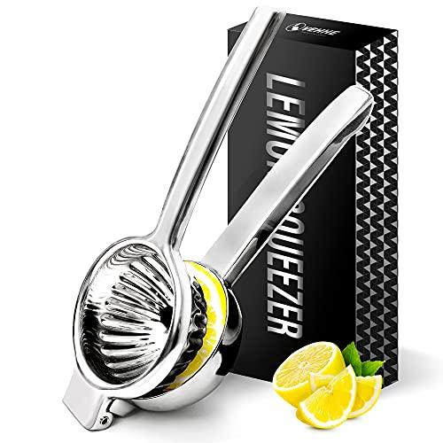 Lemon Squeezer, Large Capacity Citrus Lemon Lime Orange Juicer Hand Press, 304 Stainless Steel Manual Juicer with Filter