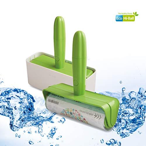 Eco Roll Clear - Waschbare Fusselrolle - Entferner für Katzen-, Hunde- und andere Tierhaare - Extra klebriger Reiniger für Kleidung, Teppich, Sofa, Autositze - Wiederverwendbare waschbare
