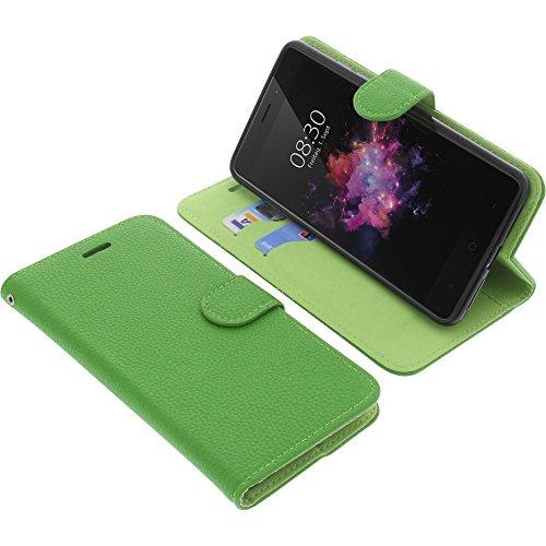 foto-kontor Tasche für TP-Link Neffos X1 Max Book Style grün Schutz Hülle Buch