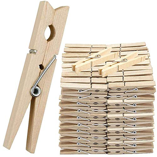Be-Creative Houten Kleden PEGS CLIPS PINE WASHING LINE AIRER DRY LINE HOUT PEG GARDENS (60 PEGS)