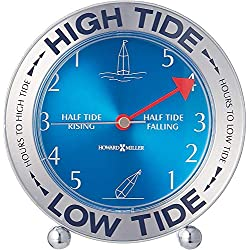 Howard Miller Tide Mate III Table Clock 645-527 – East Coast, High & Low Tide with Quartz Movement