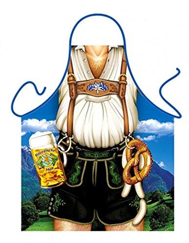 Lustige Schürze - Bayer - Scherzartikel Mann mit Lederhosen und Bier - Urkunde
