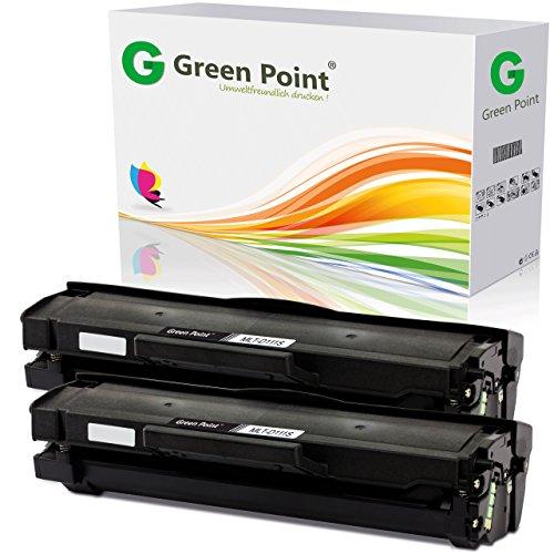 Greenpoint 2 XXL Toner mit hoher Reichweite kompatibel zu Samsung MLT-D111S/ELS Samsung Xpress M2026W, M2022W, M2070W, M2070FW, M2020, M2000 - Schwarz