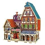 RecontraMago Puzzle 3D - Colección Casas y Edificios del Mundo - Rompecabezas de Madera- Juguetes...
