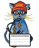 Composition Notebook: Wide Ruled School Composition Notebook. 110 Pages, 7.5'x9.25'. White double sided paper. Featuring Hugo from The Good Luck Cats ... while apparently nibbling on a hookah pipe.