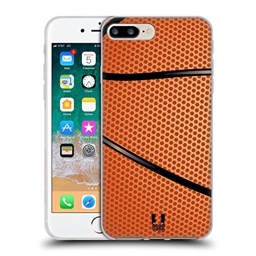 Head Case Designs Baloncesto Colección de Bolas Carcasa de Gel de Silicona Compatible con Apple iPhone 7 Plus/iPhone 8 Plus