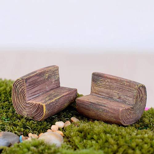 Sanwood Fashion Mini chaise canapé de jardin féérique modèle maison de poupée miniature