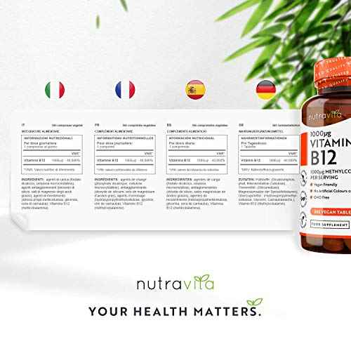 Vitamin-B12-1000mcg-365-Tablets-1-Year-Supply-of-Vegan-Methylcobalamin-Contributes-to-The-Reduction-of-Tiredness-and-Fatigue-Made-in-The-UK-by-Nutravita