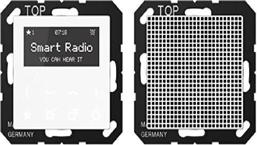 Jung Smart Radio - Set Mono Serie A Alpinweiß, 1 Stück, Rad A 518 WW