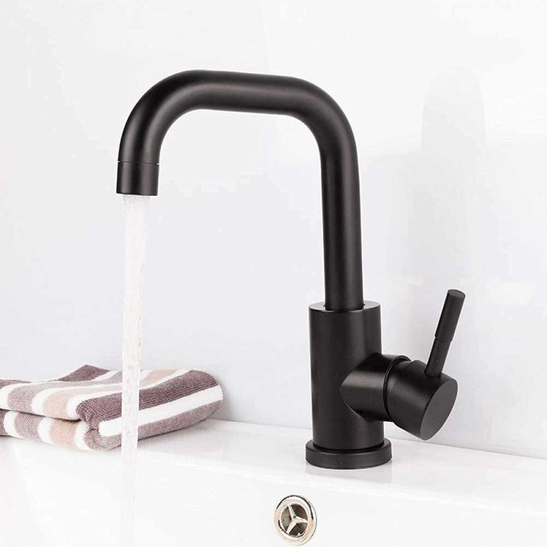 ZHFJGKR&ZL Spültischarmatur Warmes und kaltes Wasser-Badezimmer-Hahn-Wanne Schwarzer Badezimmer-Wannen-Hahn