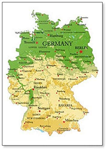 Germany Limited price Physical discount Map - Magnet Classic Fridge