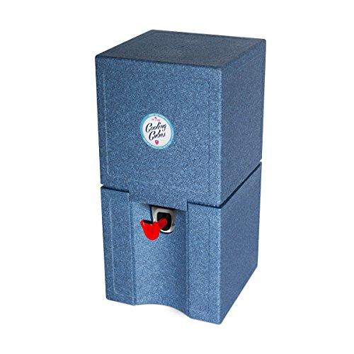 Cooling Cubes Point Break - Beachparty Kühlbox für 5 Liter Partyfass/Partyfässchen Bierfasskühler (Jeans-blau)