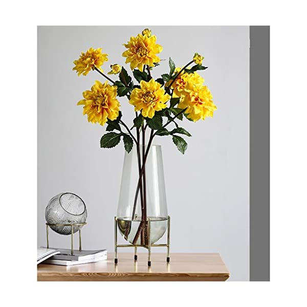 Flower SAP – Dalia artificial falsa para sala de estar, dormitorio, mesa de comedor interior y secado floral