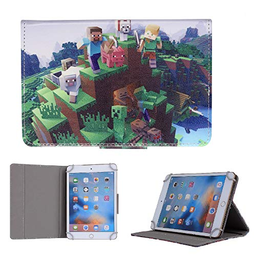 All Favorite Boys Cartoon Heroes Tablet Cover For All iPad Models Case (iPad mini 1 2 3 4 5, Minecraft)