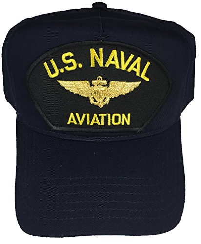 U.S. Naval Aviation W/Pilot Wings HAT - Navy Blue - Veteran Owned Business