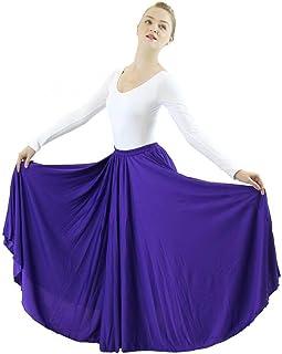Danzcue Womens Long Full Circle Dance Skirt
