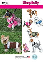 Simplicity Creative Patterns 1239 Dog Coats in Three Sizes, Size: A S-M-L by Simplicity Creative Patterns
