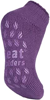Heat Holders - Womens Non Slip Thermal Low Cut Ankle Slipper Socks with Grips