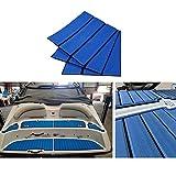 HilMe Eva Telo in teak sintetico, per pavimenti di barche e yacht, antiscivolo e autoadesivo, 240 x 45 cm, Non null, Blu e nero, Taglia libera
