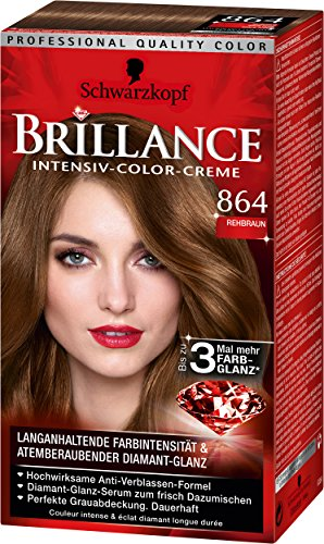 Brillance Intensiv-Color-Creme 864 Rehbraun, 3er Pack (3 x 143 ml)