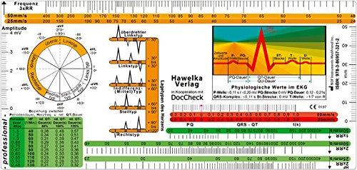 EKG Lineal -professional- II - inkl. Lagetypen, Lagekreis, Periodendauer