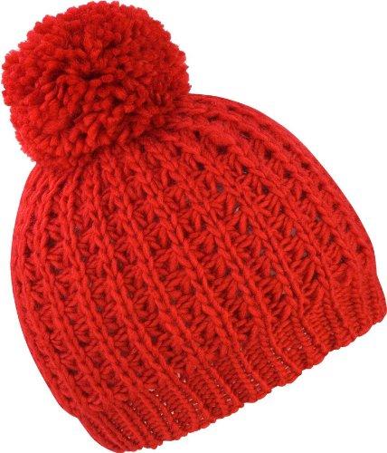 Result winter essentials pom pom hat knitted flute - Blanc - Taille unique