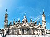 YUMUYAO Rompecabezas de 1000 Piezas para niños basílica del Pilar Juguetes de Madera Juegos Divertidos decoración de Arte Rompecabezas Juguetes educativos para niños y Adultos