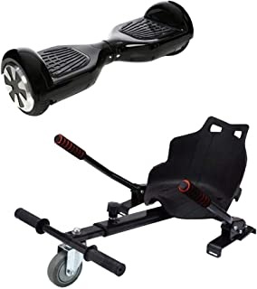 Self Balance Electric Scooter - Black with Seat for electric scooter - Black