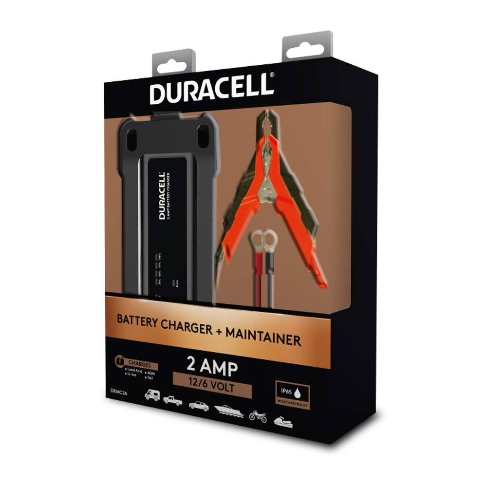 : Duracell 2 Amp Battery Maintainer Charger for 6v
