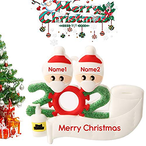 Aimei Beauty 2020 Christmas Ornament Quarantine Survivor Family Customized Christmas Personalized Decorations Gifts Customized Party Decor (Head 2)