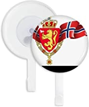 DIYthinker Norway National Emblem Country Sucker Suction Cup Hooks Plastic Bathroom Kitchen 5Pcs Gift Multicolor