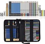 Lypumso Lapices de Dibujo Artístico, Set de Lápices Colores Profesional Bosquejo Carbón Grafito Sticks, Estuche Lápices de Color. Conjunto Ideal para Artistas, Adultos y Niños