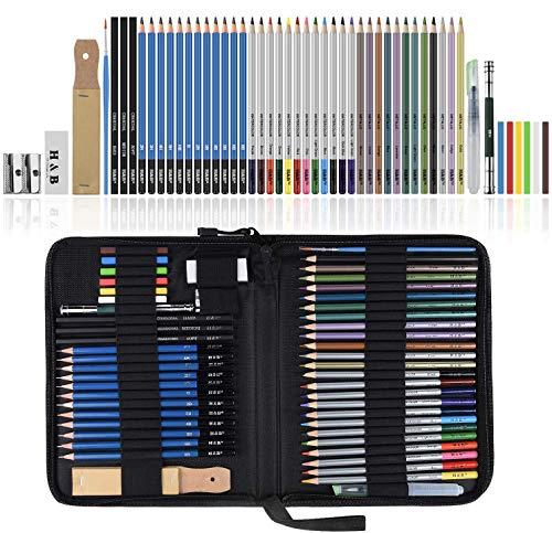 Lypumso Lapices de Dibujo Artístico, Set de Lápices Colore