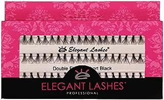 Elegant Lashes Double Flare Extra-Short Black Individual Eyelashes (Single Pack - 1 Tray)