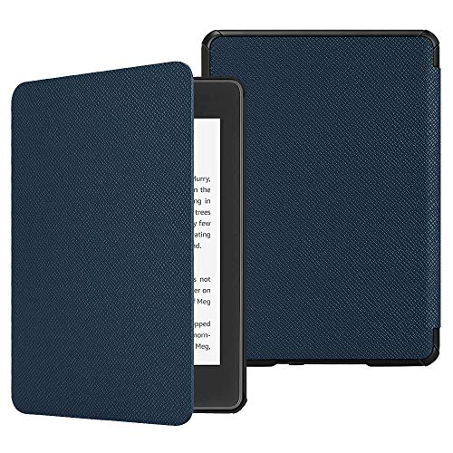 Fintie Hülle für Kindle Paperwhite (10. Generation – 2018) - Die dünnste und leichteste Schutzhülle Tasche mit Auto Sleep/Wake Funktion für Amazon Kindle Paperwhite eReader, Marineblau