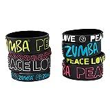 Zumba Set x 8 Pulseras Peace, Love-N Negro
