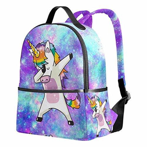 Unicorn School Backpack for Girls Galaxy Cute Bookbags Elementary School Bags 12.6x 5 x 14.8 for 1th-2th 3th Grade Girls Kids Boys