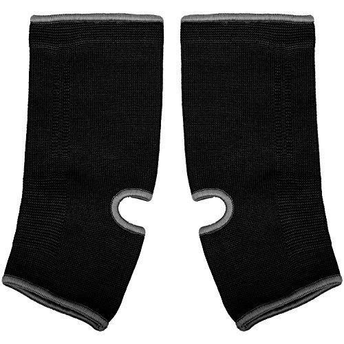 Venum Unisex Kontact Ankle Guards, Black/Black, One Size