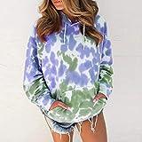 Hoodie Sweatshirt Sweatshirts Damen Krawatte Dye Print Langarm Loose Hoodie Pullover Übergroße...
