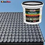 Dachfarbe Sockelfarbe Dachbeschichtung Dachlack Dachsanierung Polymermembran 7 kg Anthrazit