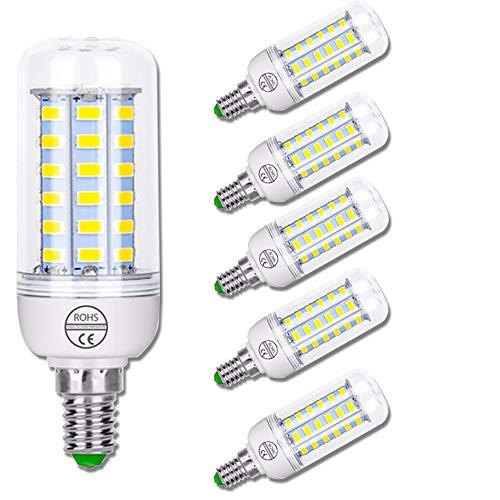 ZJING E27 Led Blanco Cálido Lámpara de Maíz 12W (1200W Equivalente) E14 AC 220-240V Edison Screw Bulbs, No Flickering Non Dimmable LED Screw Bulbs, 1500 Lumens CRI 85+, 6 Pack,E27 Warm,3W