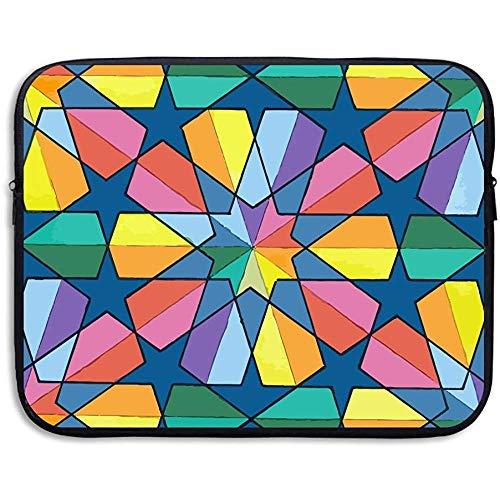 Rainbow Color Geometry Impermeable Fundas para computadora portátil portátil
