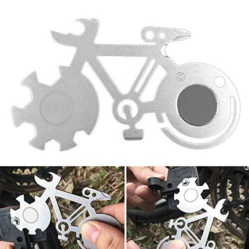 Majome 1 unids Herramienta Multifuncional Al Aire Libre Tarjeta de Bicicleta de Montaña Llave Abrelatas Abrebotellas Cuerda de Corte